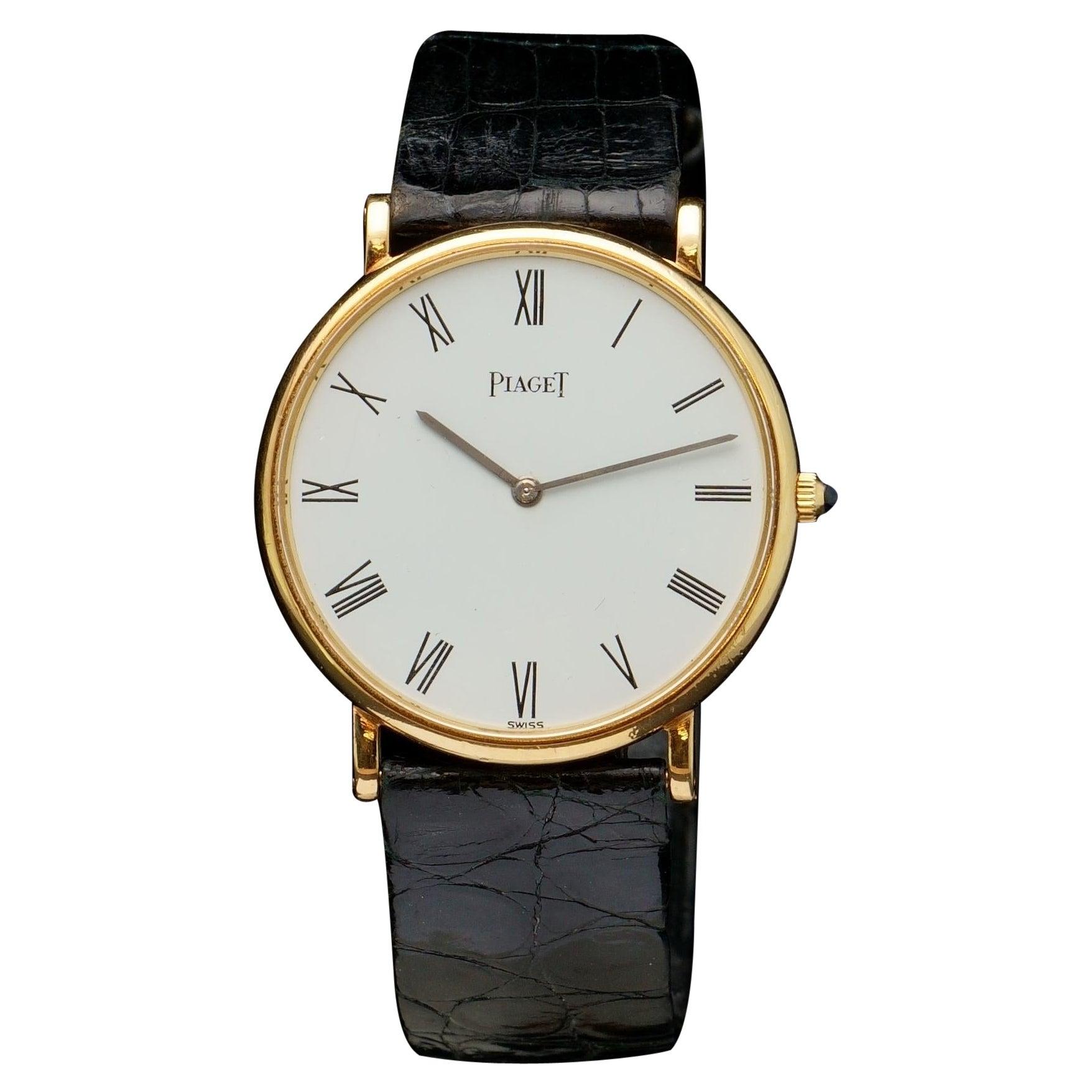 Piaget Classique 18kt Gold Manual Winding Wristwatch