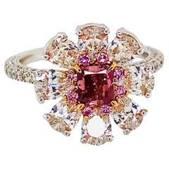 Emilio Jewelry GIA Certified 3.37 Carat Fancy Pure Red Diamond Ring