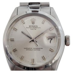 Mens Rolex Oyster Perpetual Date 1500 Automatic 1960s Vintage Swiss RJC136