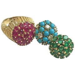 1960s Cartier Gold Tourbillon Ring