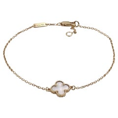 Van Cleef & Arpels Sweet Alhambra Yellow Gold and Mother of Pearl Bracelet