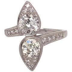 Estate Platinum Old European Cut Diamond Ring