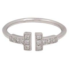 Tiffany & Co. 'Tiffany T Wire' White Gold Diamond Ring