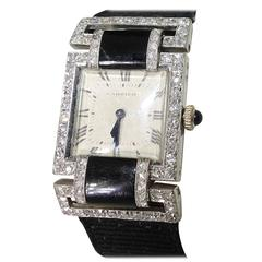 Cartier Paris Lady's Platinum Yellow Gold Diamond Wristwatch