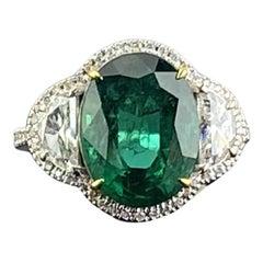 Emerald Three-Stone Rings
