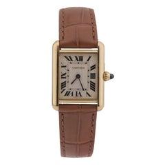 Cartier Tank Louis Small Model 18k Yellow Gold Watch W1529856