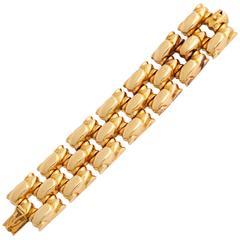 1940s Car Shaped Gold Link Bracelet
