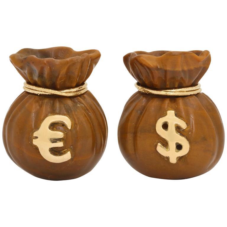Michael Kanners Money Bag Cufflinks