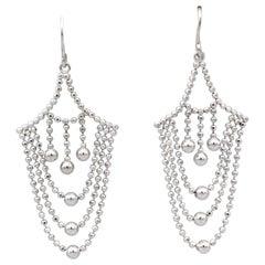 Tiffany & Co. 18k White Gold Drop Earrings