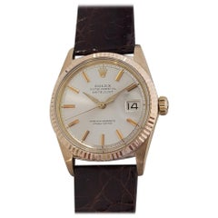 Mens Rolex Oyster Datejust 1601 18k Rose Gold Automatic 1970s Swiss RJC121