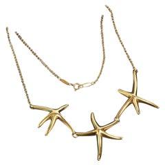 Tiffany & Co Starfish Necklace by Elsa Peretti, Vintage & Rare, 18K Yellow Gold