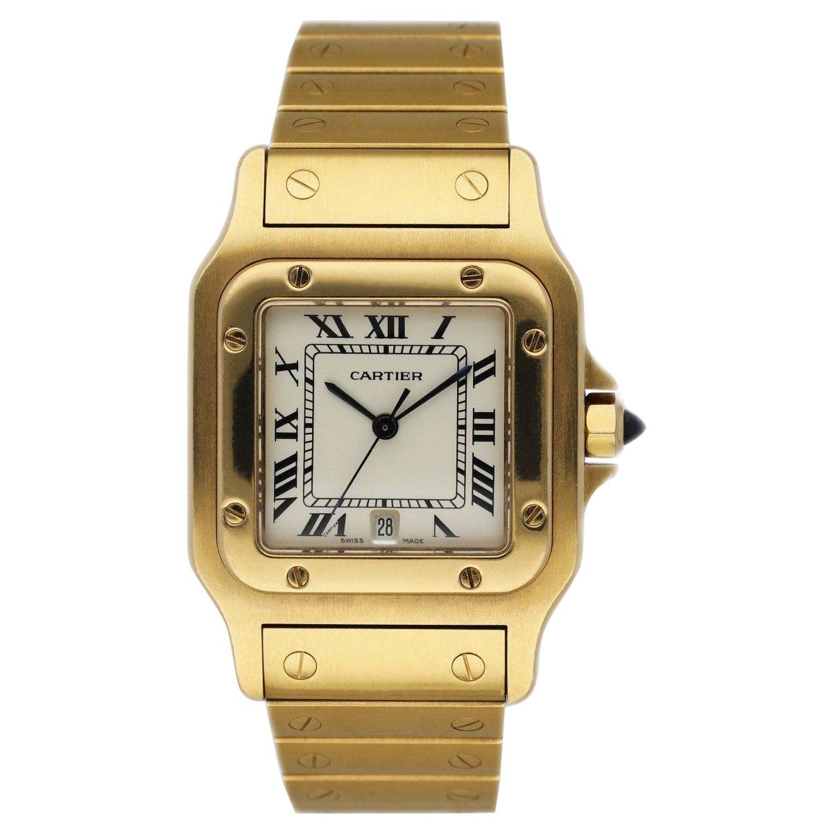 Cartier Santos Galbee 887901 18K Yellow Gold Ladies Watch