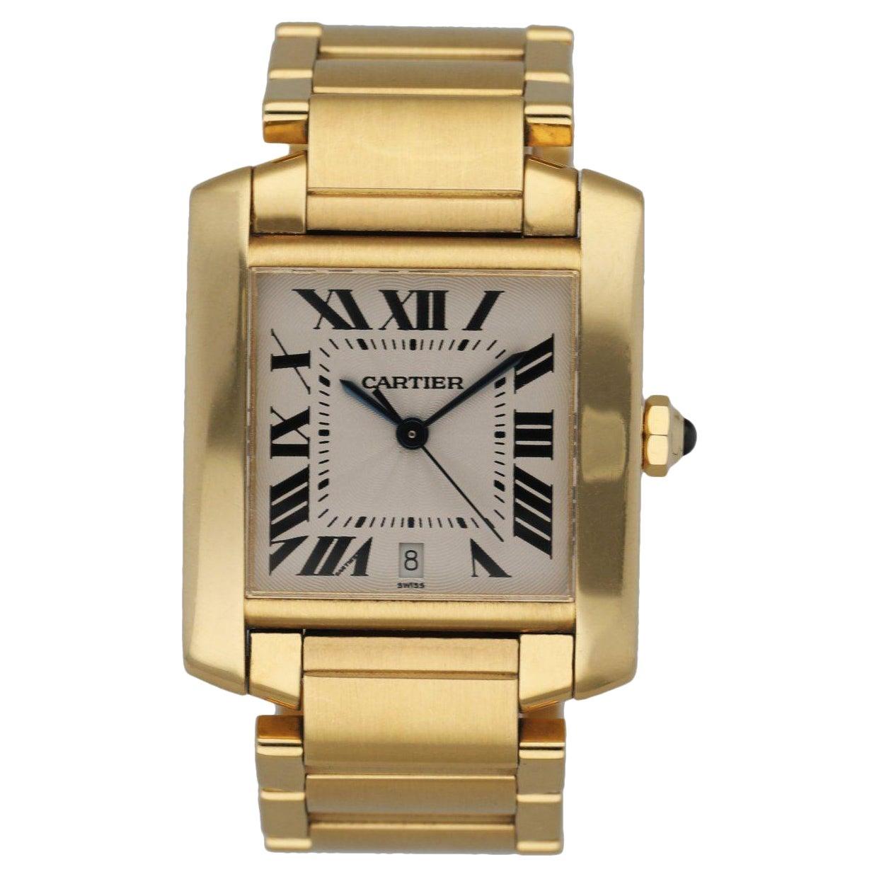 Cartier Tank Francaise 1840 18K Yellow Gold Men's Watch