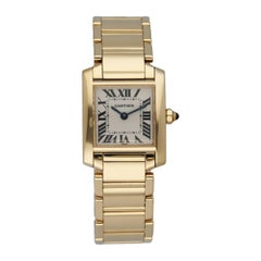 Cartier Tank Francaise 1820 18K Yellow Gold Ladies Watch