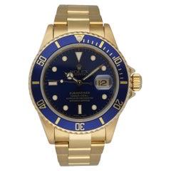 Rolex Submariner 16618 18K Yellow Gold Men's Watch