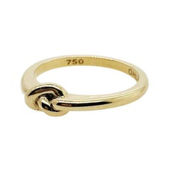 Forget Me Knot Single Knot Band Antique Style Band 18ct Yellow Gold