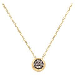 18 Karat Yellow Gold Pavè Brown Diamond Garavelli Giotto Necklace