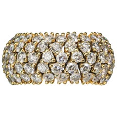 Hammerman Brothers Diamond Gold Flexible Band Ring