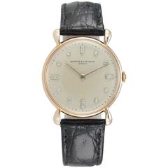 Vacheron & Constantin Rose Gold Diamond Dial Wristwatch