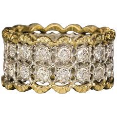 Gianmaria Buccellati Diamond Gold Platinum Band Ring
