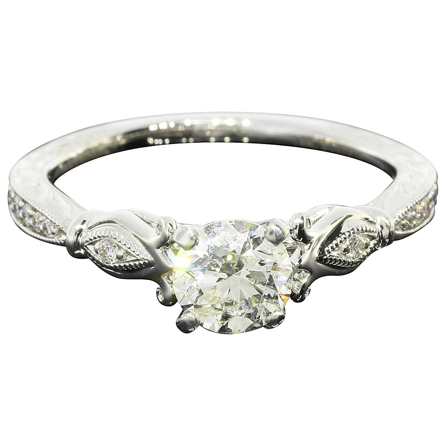 Gabriel and Co Diamond Gold Engagement Ring at 1stdibs
