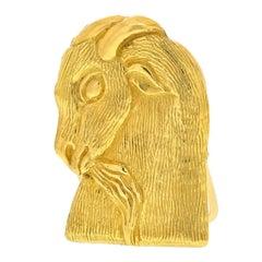 David Webb 18K Yellow Gold Money Clip Jewelry
