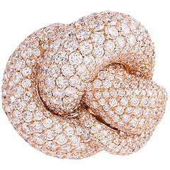 Palmiero 11.64 Carats Diamonds Gold Snake Ring