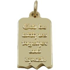 Gold Charm -- God Be With Us Together and Apart