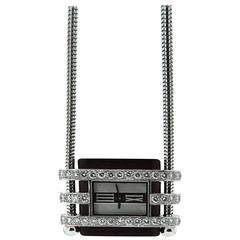 Van Cleef & Arpels Ebony Diamond Gold Sliding Watch Pendant