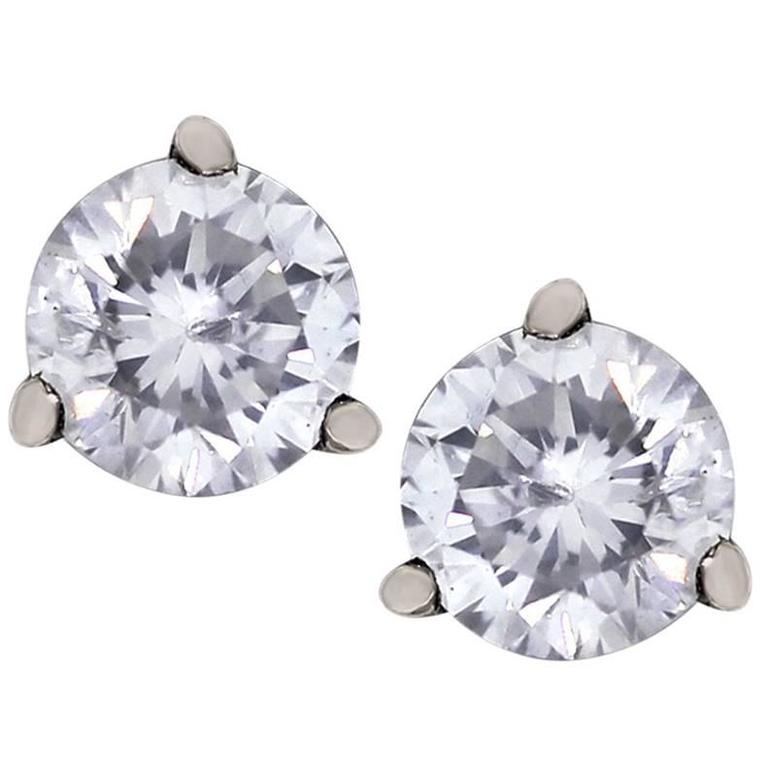 10.38 Carat Diamond Stud Earrings 1