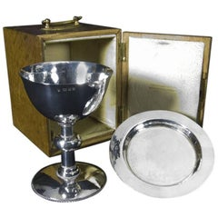 English Silver Chalice and Paten