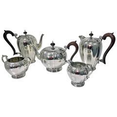 1940s Hamilton & Co. Calcutta Rare Indian Sterling Silver Tea and Coffee Set
