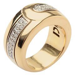 Di Modolo Heavy Diamond Gold Band Ring