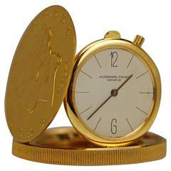 Audemars Piguet Yellow Gold $20 Coin Travel Clock