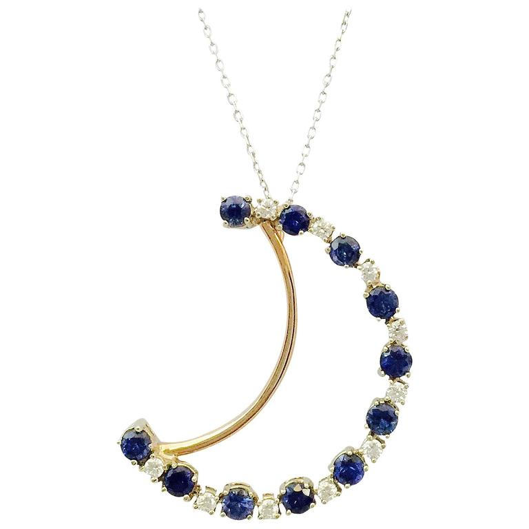 ceylon sapphire gold necklace for sale at 1stdibs