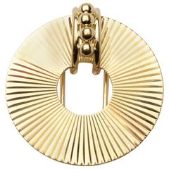 Tiffany & Co. Retro Gold Dress Clip