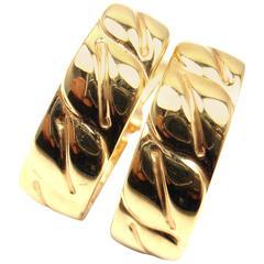 Cartier La Dona Gold Hoop Earrings