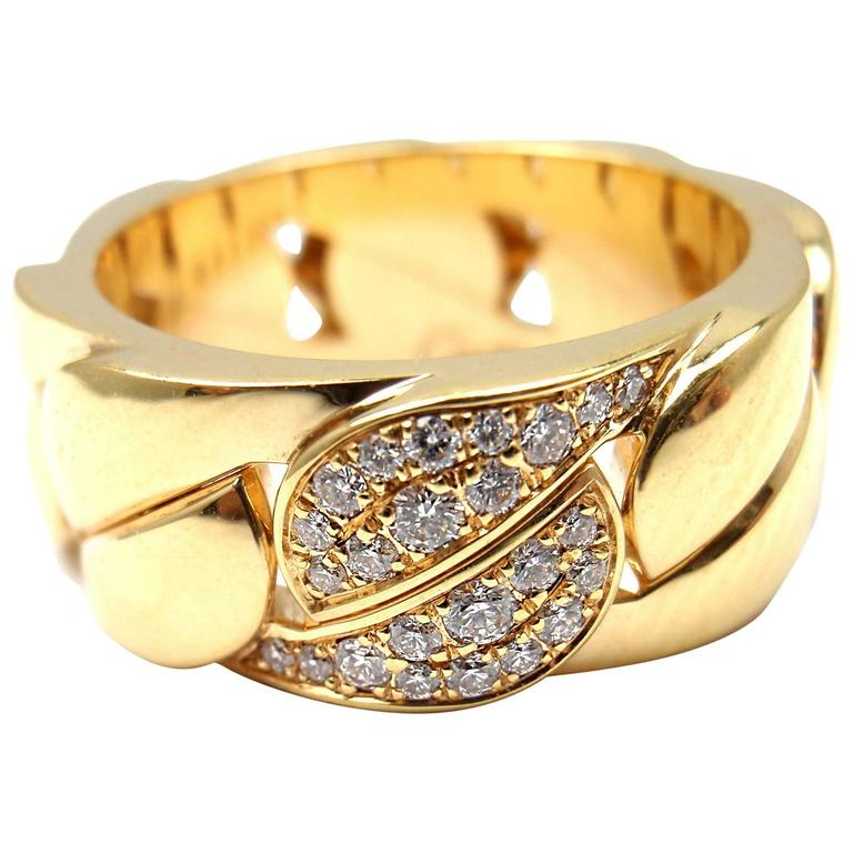 Cartier La Dona Diamond Gold Band Ring For Sale