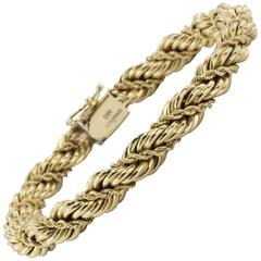 Tiffany & Co. Gold Thick Rope Bracelet