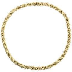 Tiffany & Co. Gold Thick Rope Necklace
