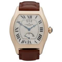 Cartier Rose Gold Tortue Privee Power Reserve Wristwatch