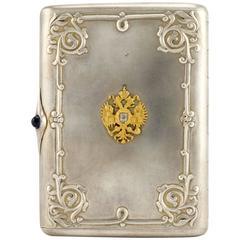 Fabergé Imperial Presentation Jeweled Silver Cigarette Case