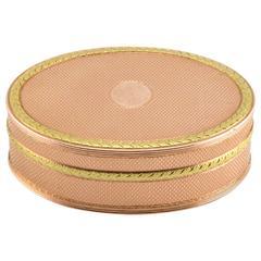 Fabergé Henrik Wigström Varicolor Gold Pastille or Pill Box