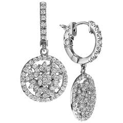 Petite Diamond Gold Dangle Earrings