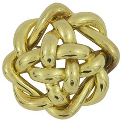 Tiffany & Co. Woven Gold Brooch