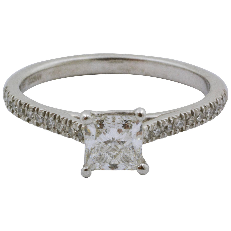 0 73 carat platinum princess cut engagement ring