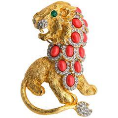 1960s K.J.L. Lion Brooch