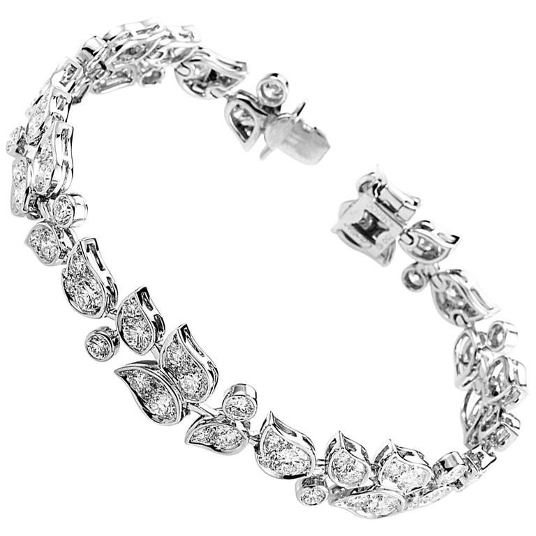 Cartier Diamond Gold Floral Bracelet 1