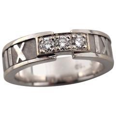 Tiffany & Co. Atlas Collection Diamond Gold Ring
