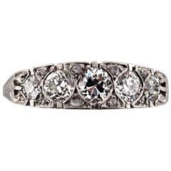 1920s Diamond Platinum Ring